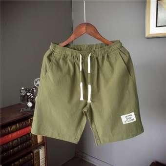 ในช่วงฤดูร้อนใหม่วัยรุ่นนักเรียนผ้าฝ้ายผ้าลินินข้อต่อตรงหลวม 5 คะแนนกางเกงสั้นเย็นครึ่งกางเกงขี่ม้ากางเกงใส่นอนชาย