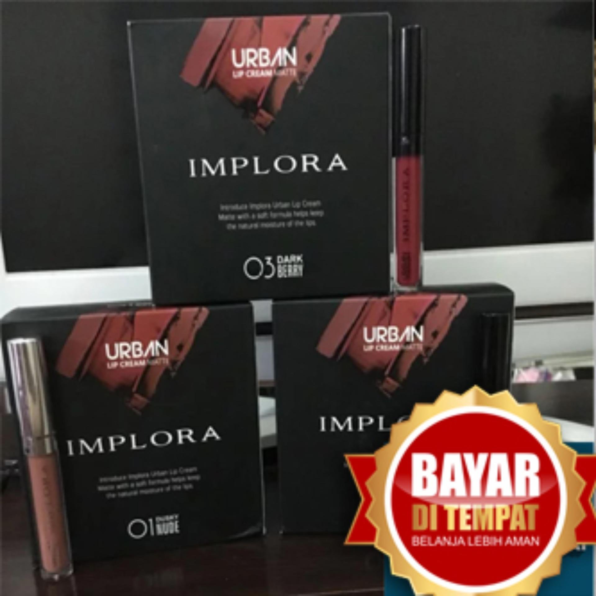 1 Box 12 Pcs Implora Lip Cream Matte - Lipstik Terlaris - Lipstik Murah
