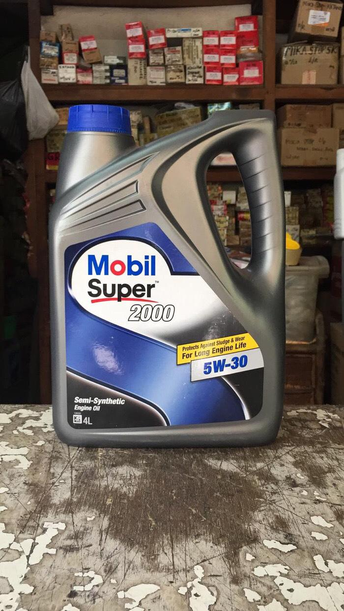 OLI MOBIL SUPER 2000 SAE 5W-30 GALON 4 LITER