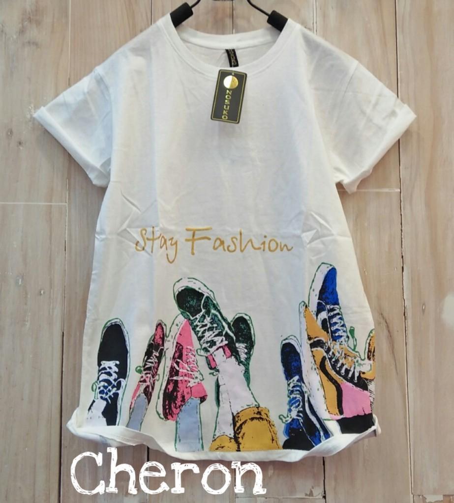 PROMO CHERON 15909 - Kaos Oblong Wanita Baju Distro Cewek Atasan Kekinian  Murah Lengan Pendek Tumblr 6f66c0c006