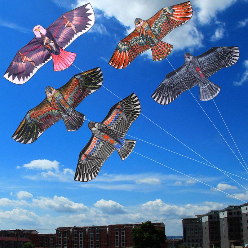 1.1m Outdoor Sport Huge Eagle Kite Novelty Animal Kites Color Toy Children Random X2L6