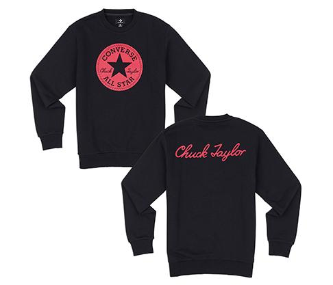 Converse Chuck Taylor Graphics Sweater Pria - Hitam afefa248aa