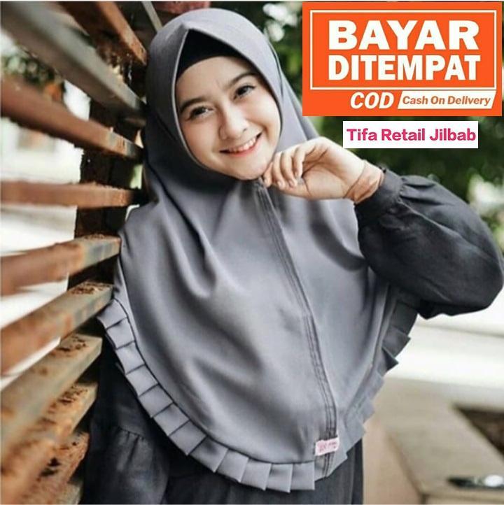 Jilbab Instan Khimar Pet Gerigi