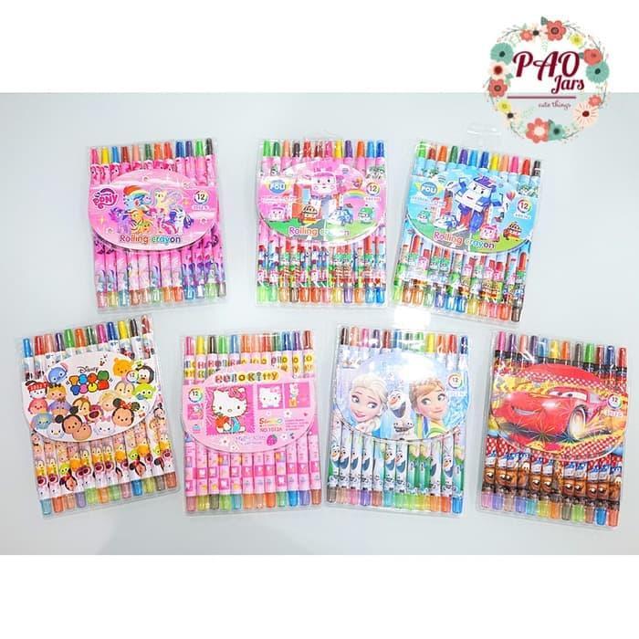 pensil warna anak sekolah / crayon karakter / pensil warna TERMURAH