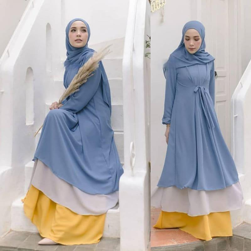 Baju Wanita Terbaru Gamis 2020 Helma Dress Cb Bahan Ceruti Full Resleting Depan Busui Terusan Wanita Paling Laris Baju Muslim Lengan Panjang Model Trendy Modern Baju Muslim Dress Pesta Murah Terbaru