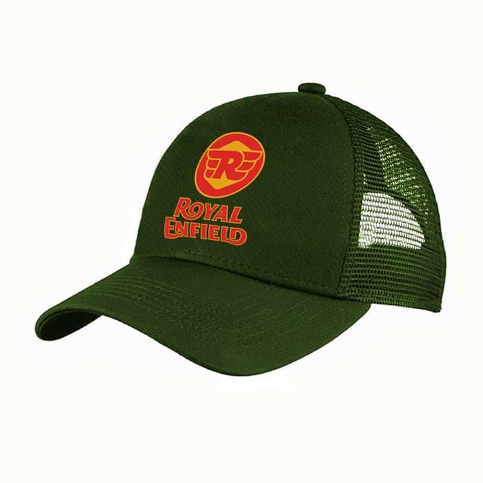 Trucker topi jaring royal enfield hijau army - dear aysha