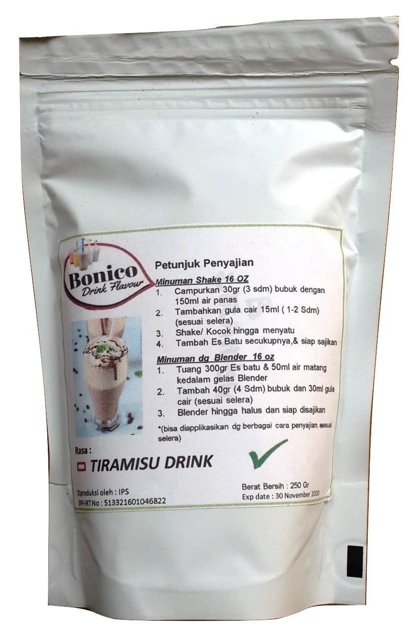 Bonico Tiramisu Powder 250gr Bubuk Minuman Drink Flavor Powder Tiramissu Ice Blend Milk Shake Orimoto Mart By Ori Moto Mart.
