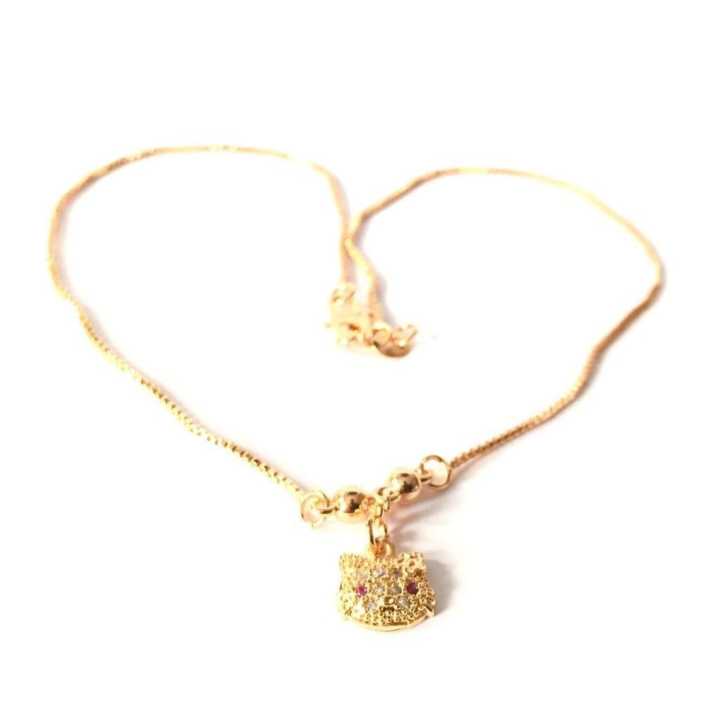 Xuping Kalung Cantik Anak Perempuan Liontin Hellokitty - Kalung Xuping Gold 02