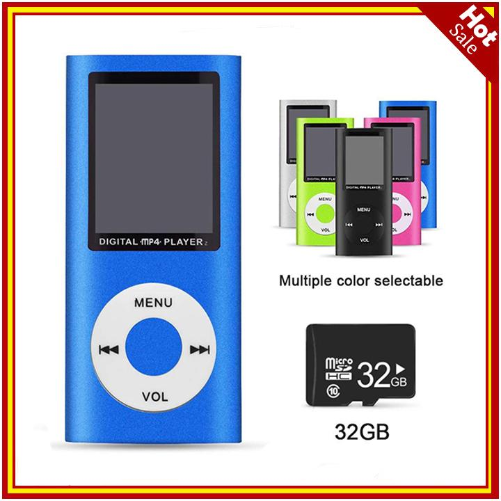 Smart Slim Metal Mp4 Player+32g Memory Card,1.8 Lcd Mp3 Music Media Video Fm Radio Game Movie E-Book Player By Cenblue Story.