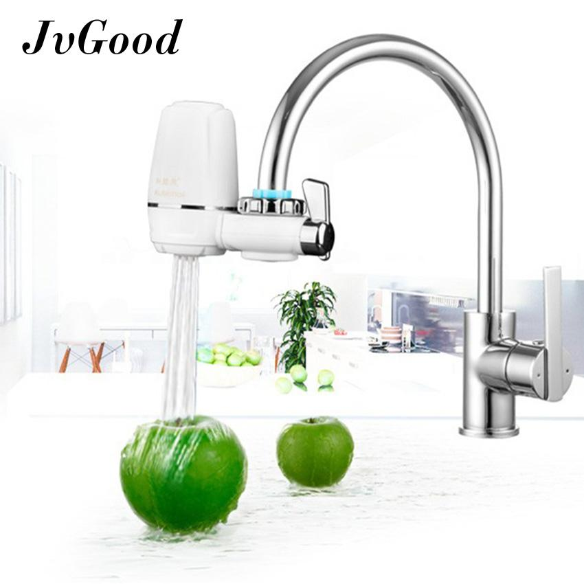 JvGood ABS Faucet Water Filter, Tap Water Purifier, Water Faucet Filtration System, Double Outlet Level 7 Filtering Kitchen Water Filter, Ceramic Filter, Health And Safety.