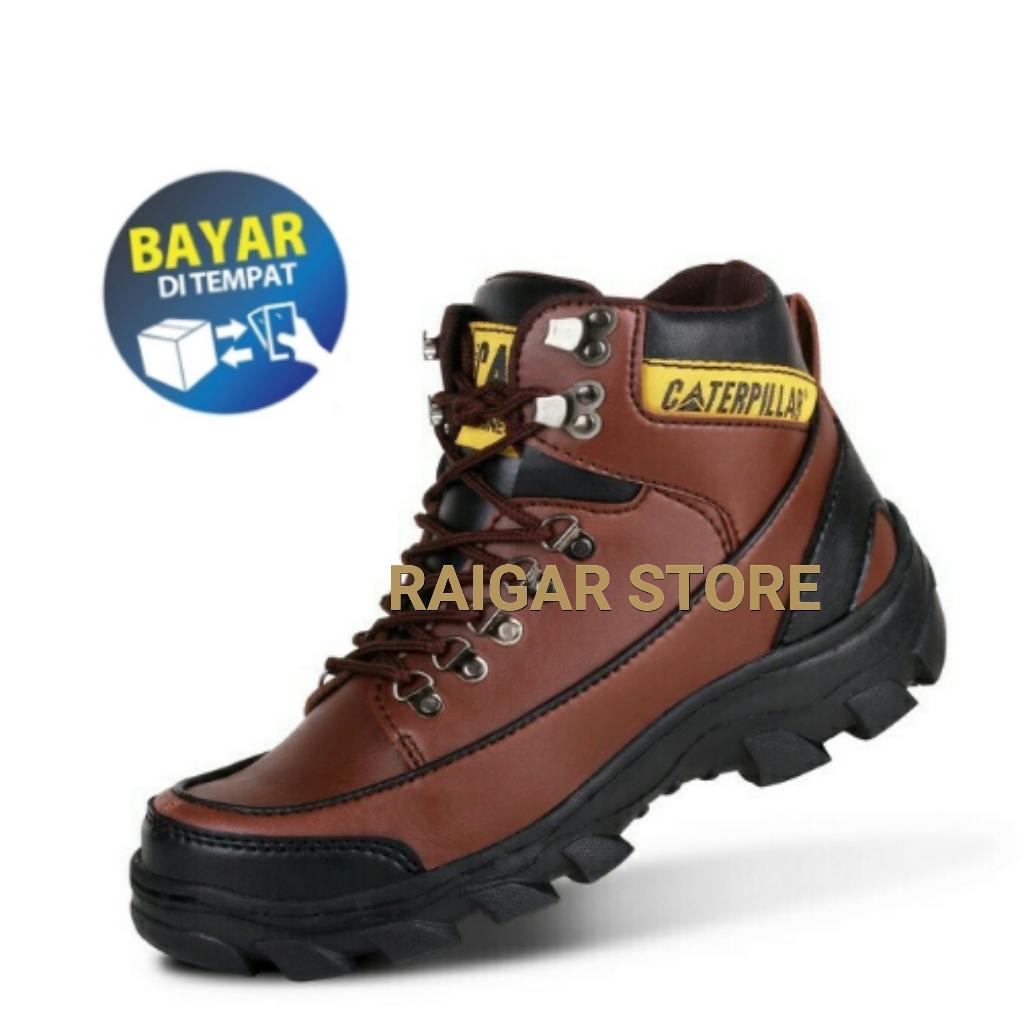 Sepatu Boots Safety terlaris Termurah Raigar Cat Argon - Sepatu Boots Pria  Lapis Besi e511b83287