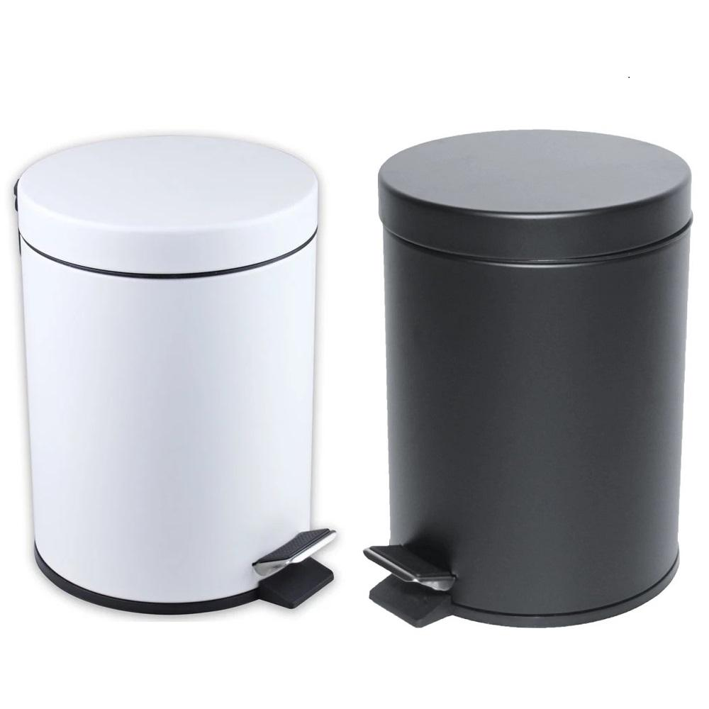 Tong Sampah Pedal 5 Liter Tutup Perlahan - Slow Case Pedal Bin Stainless Steel By Home Shopping Online.