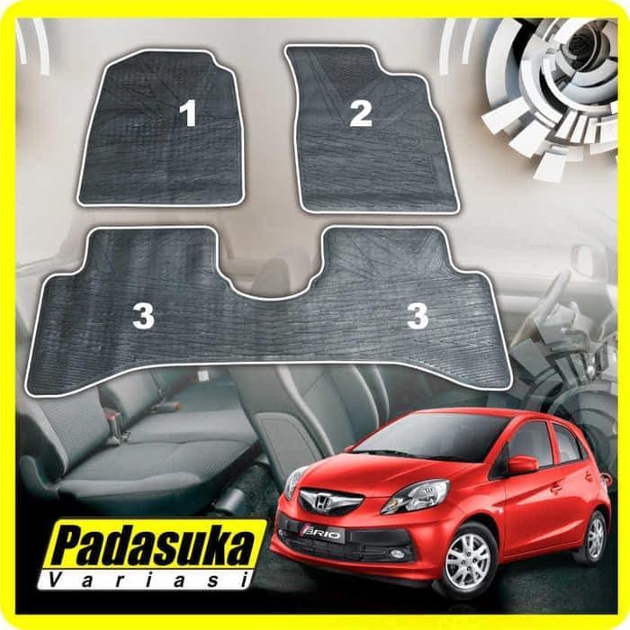 Karpet Karet / Karpet Lantai Full Set Khusus Honda Brio