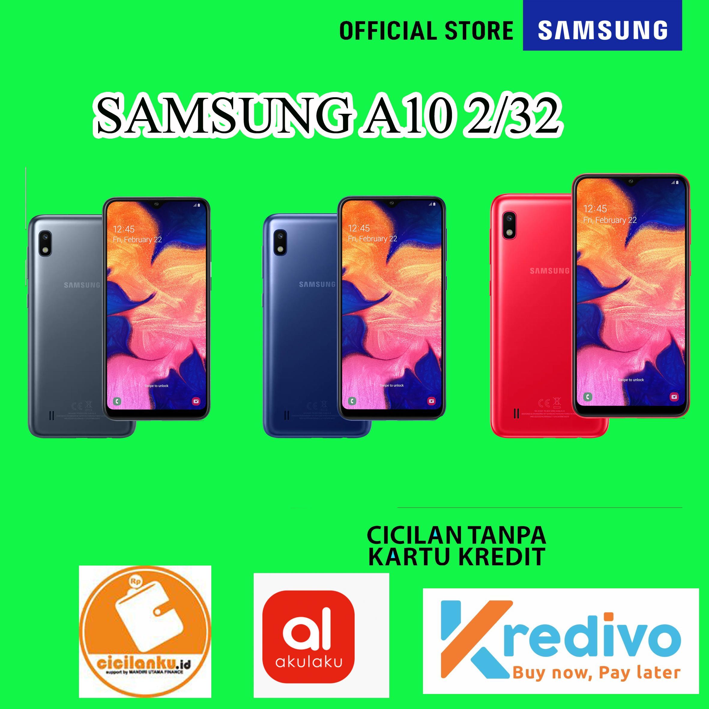Samsung Galaxy A10 Smartphone [2GB/32GB] Blue Garansi Resmi SEIN