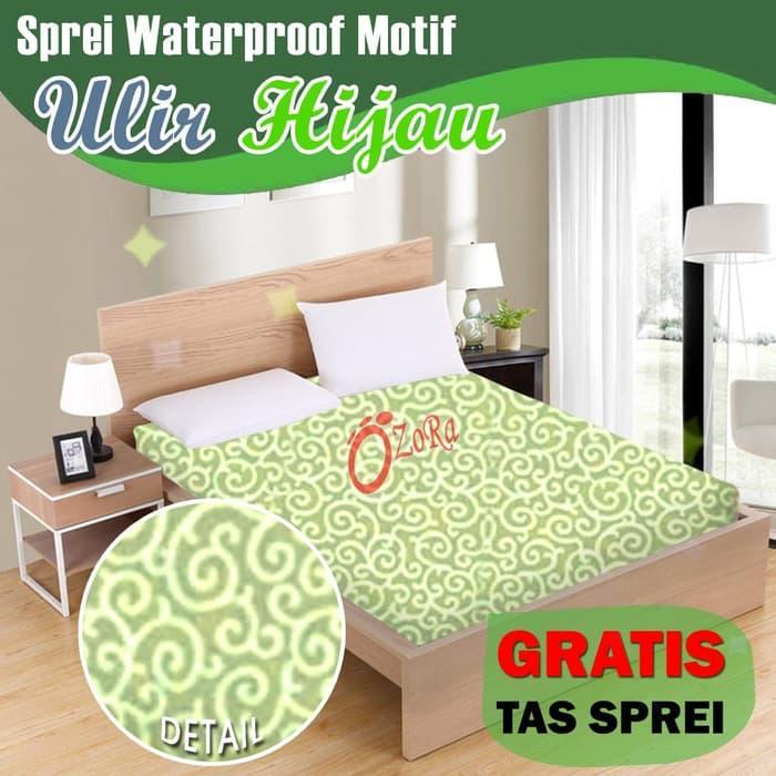 Sprei Waterproof Motif Ulir Bunga Adi Tanpa Sambungan Free Tas 180x200 By Nemo Store.