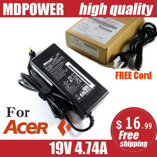 MDPOWER For Ac-er Aspire V5-431P V5-471G V5-471PG laptop power AC adapter charger cord 19V 4.74A
