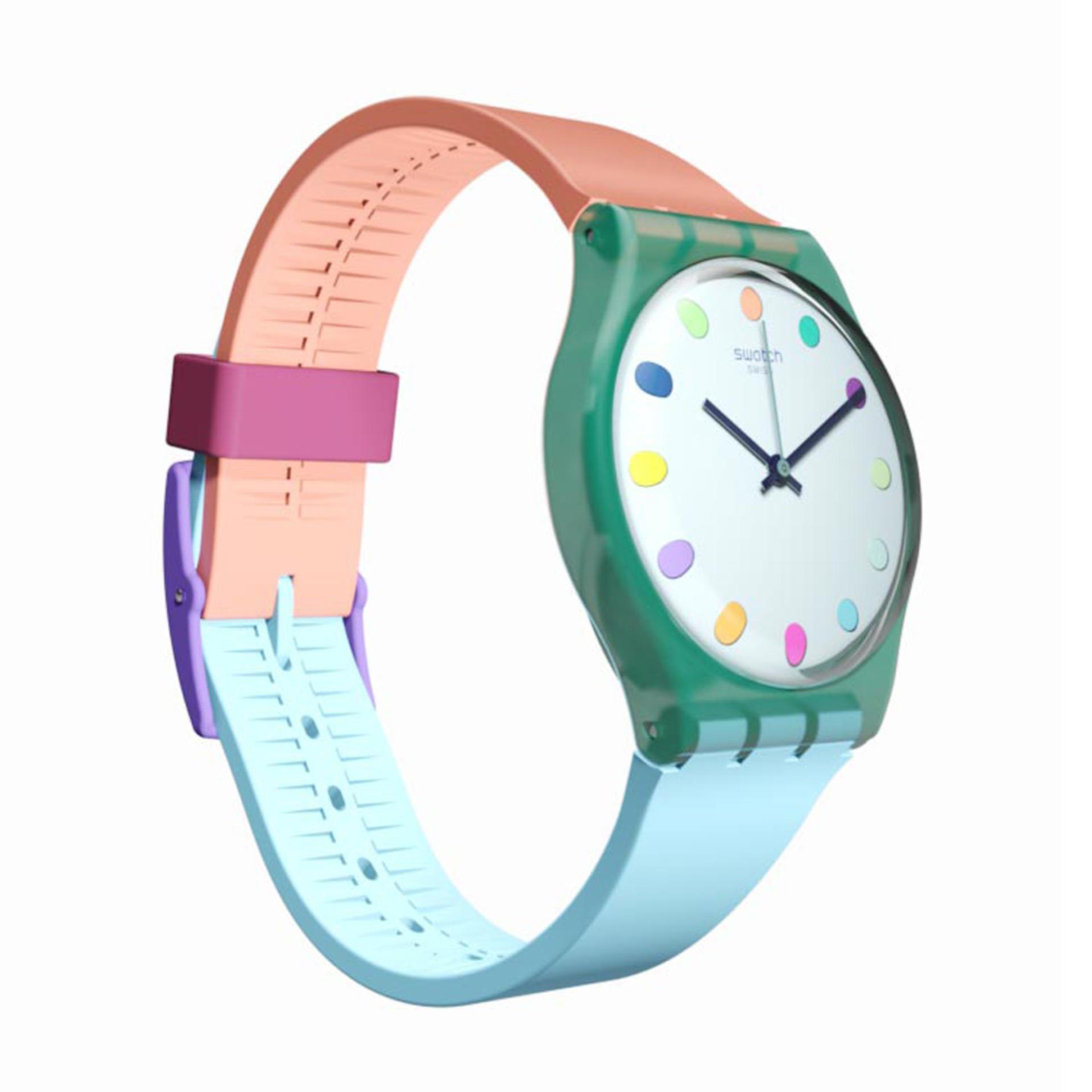 Jam Tangan Swatch Original Dan Dm044 04 Analog Wanita Multicolor Spec Swiss Gg219 Rubber