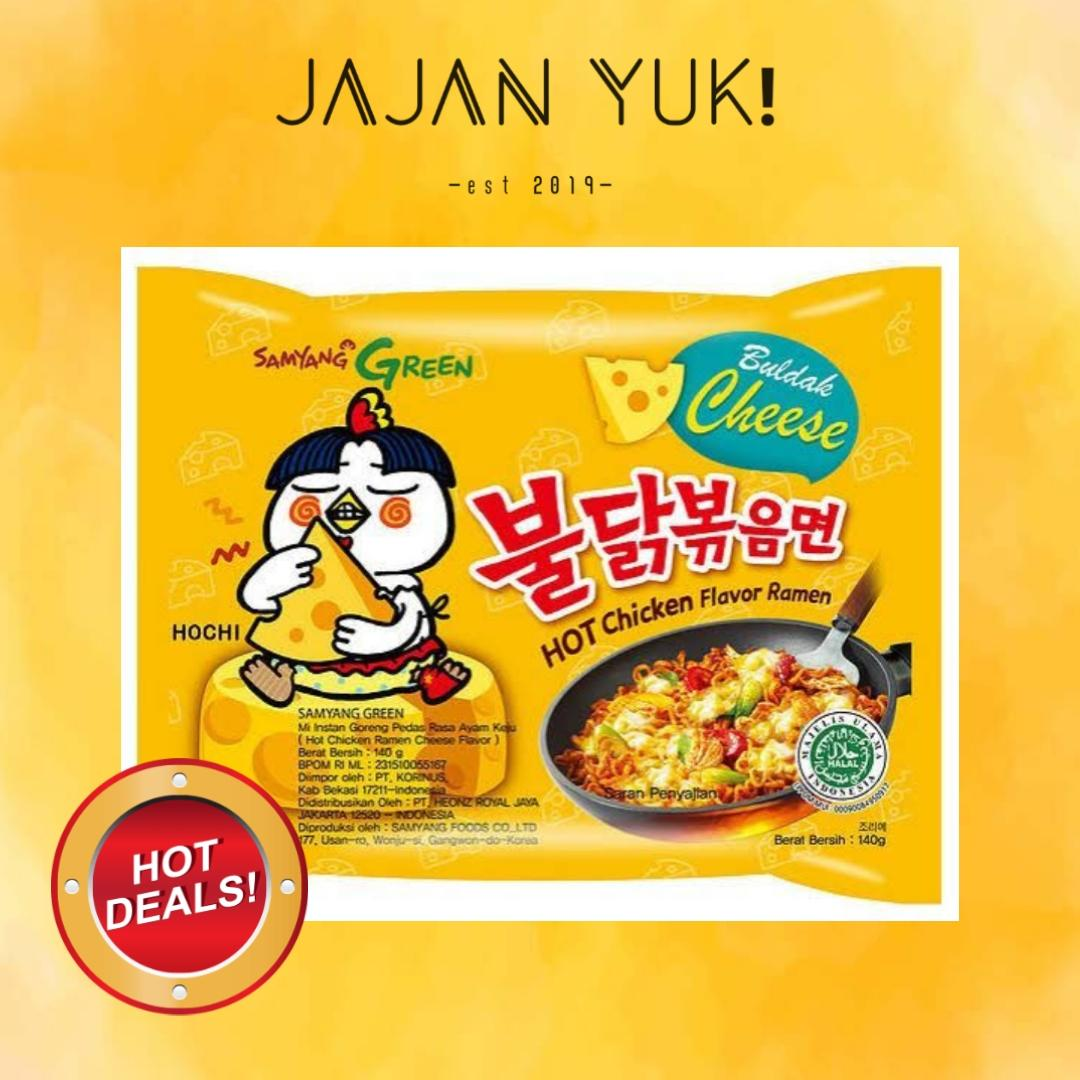 SAMYANG CHEESE HOT CHICKEN FLAVOUR RAMEN MIE INSTAN KOREA RASA KEJU