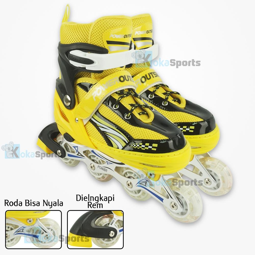 Power Sport OUTSIDE InLine Skate Sepatu Roda Anak 2 in 1 Adjustable Wheel b1abe9607d