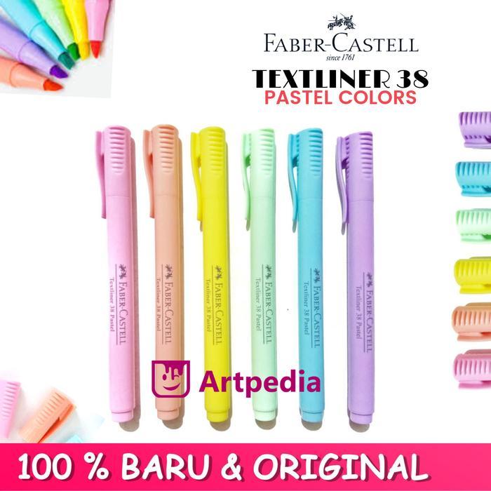 Faber-Castell Textliner 38 Pastel Colour - Highlighter pastel - Satuan