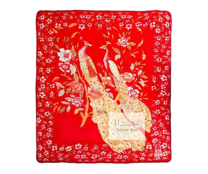 Selimut Bulu Halus Tebal Merak - Cardinal 220 x 240 cm Murah / SELIMUT TERBARU / SELIMUT WANITA / SELIMUT ANAK / SELIMUT PRIA / SELIMUT MOTIF - A697