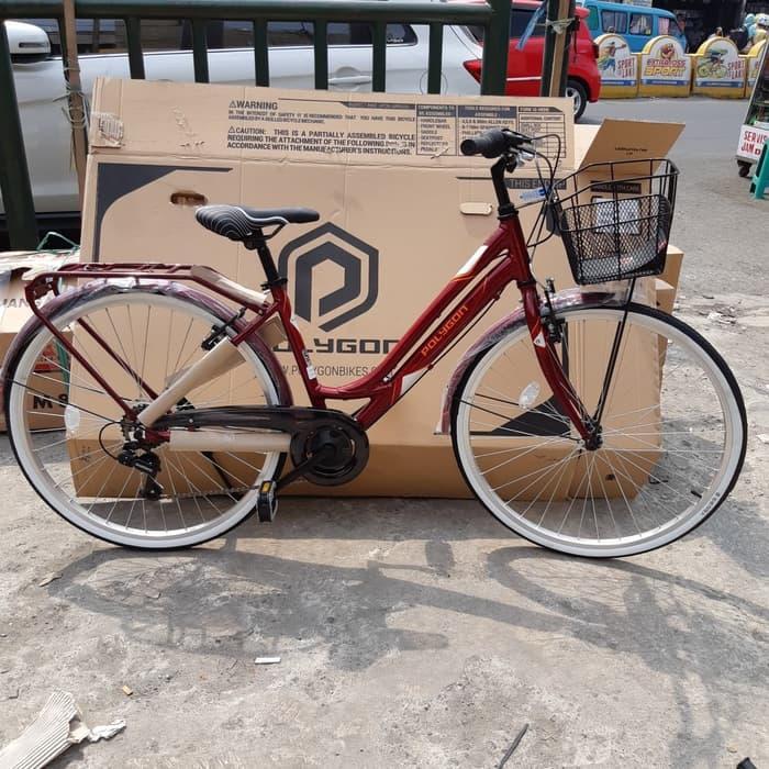 Promo    Sepeda 26 City Bike Polygon Siera Lite alloy    Termurah