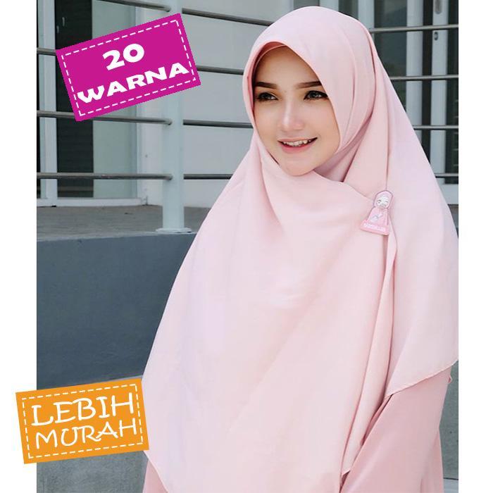Hijab Jilbab Khimar Kerudung Syari Segi Empat Wolfis 130 x 130