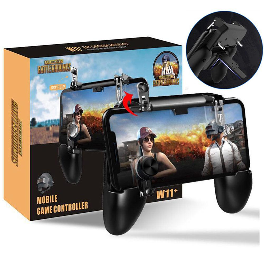 GamePad game pad W11+ / W11 All in One Plus Trigger PUBG MOBILE Controller Game pad Plus Joy Stick Trigger Controller joy stik handphone joystik hp