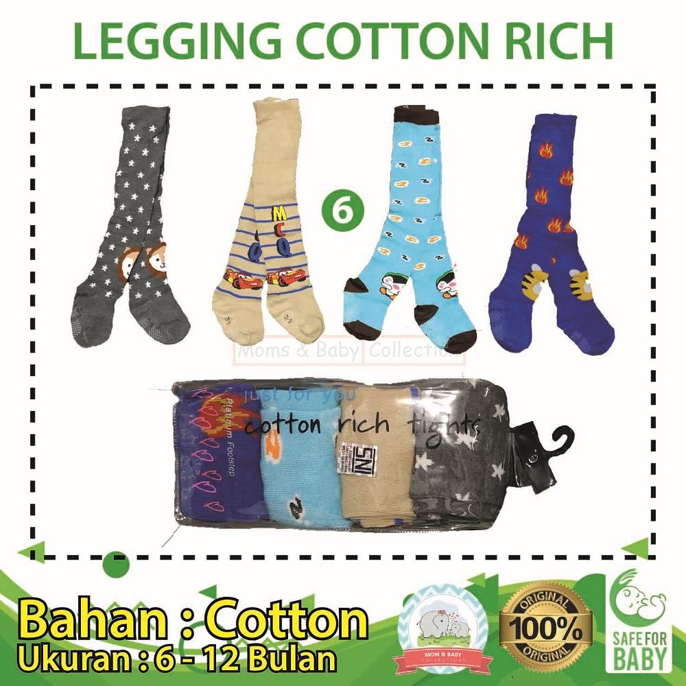 Legging Bayi Cotton Rich 4 In 1 Cowok Uk 6 - 12 Bulan - 06 By Mom & Baby Collections.