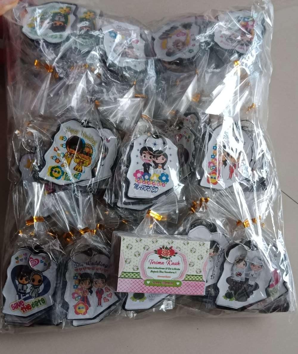 Souvenir Gantungan Kunci Wedding 100pcs