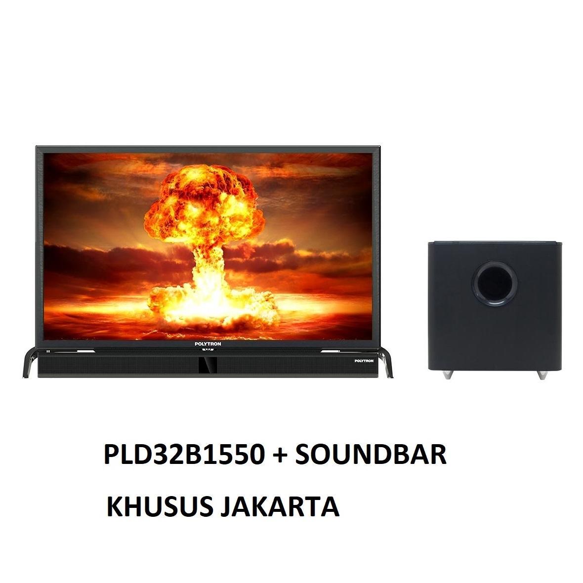 GRATIS ONGKIR - Polytron PLD32B1550 LED TV 32 Cinemax Soundbar- KHUSUS JAKARTA