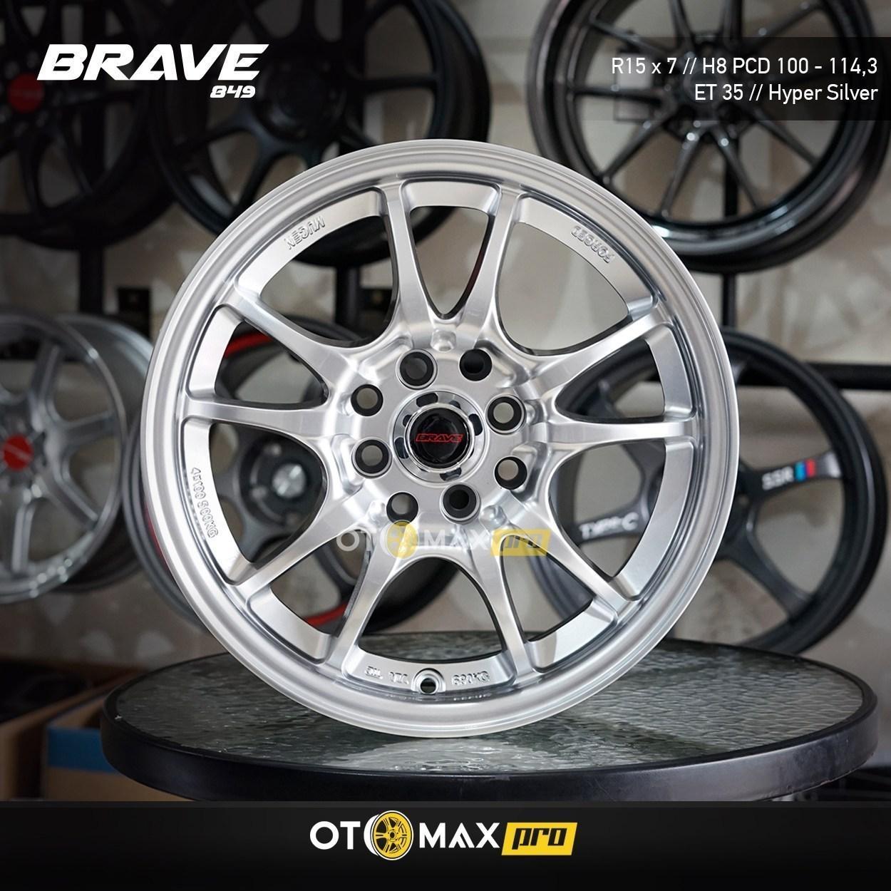 Mobil Velg Brave (849) Ring 15 Hyper Silver