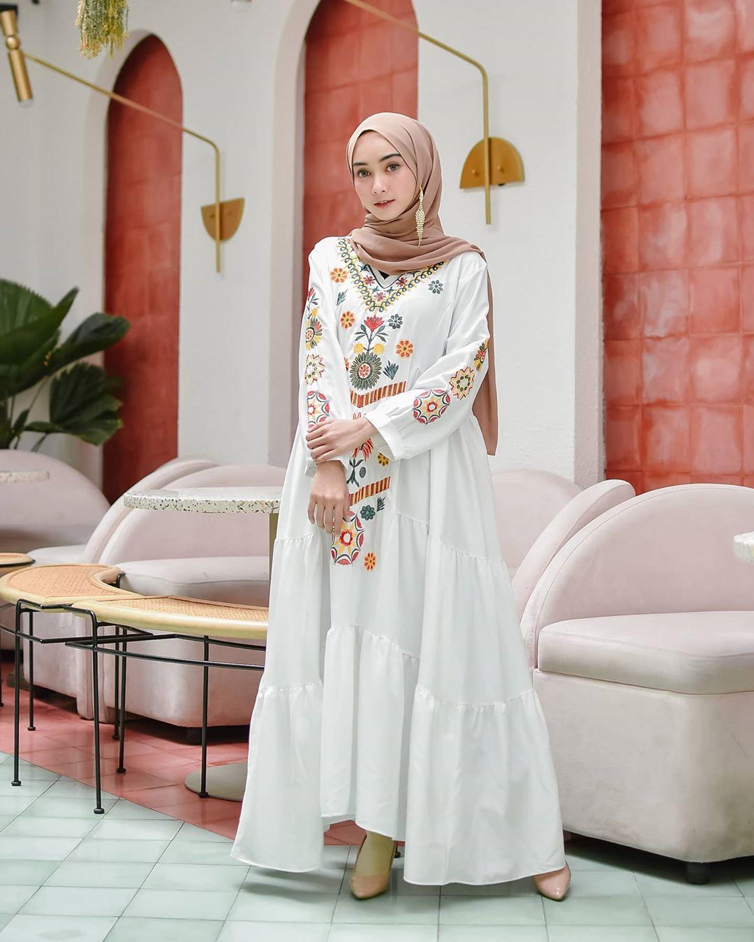 (Realpict - FREE ciput premium) NS Adreanna Dress Wanita Muslim Wanita Terbaru 2020 Kaftan dan Abaya Jumbo Size S to XL Gamis Terbaru 2020 Modern Ramadhani Dress