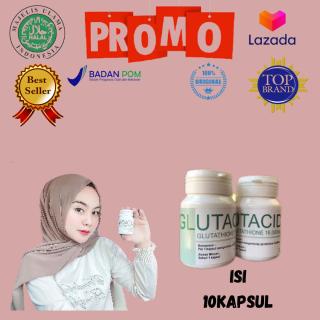 Glutacid Suplemen Pemutih Seluruh Tubuh Herbal(isi 10 kapsul) thumbnail