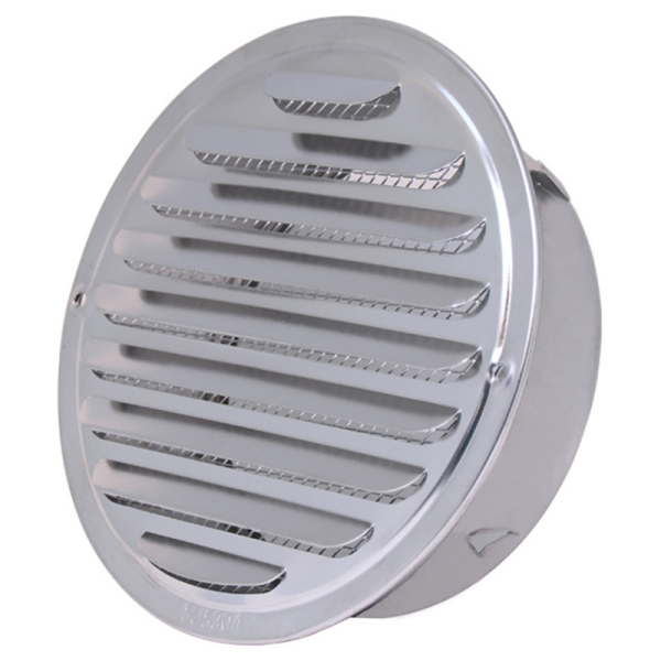 200mm Home Stainless Circle Air Vent Grille Ducting Ventilation Cover Stainless Steel Louver Air Vent