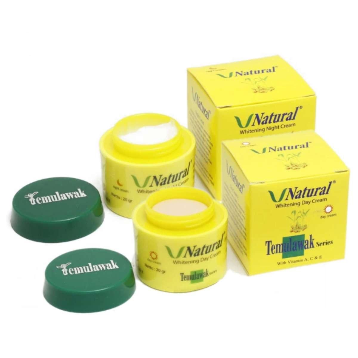 LOKA COD - Paket Cream Temulawak V Natural Original - Cream Siang dan Malam BPOM