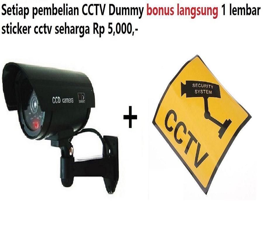 CCTV Dummy Fake Palsu model Bullet kamera camera replika berkedip cocok untuk di Ruko Rukan Kantor