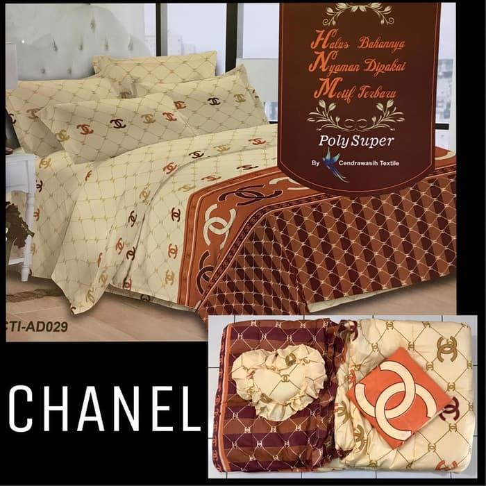 Bed Cover Bedcover King B2 Sprei Selimut Kasur Tidur Murah Chanel TIAD029