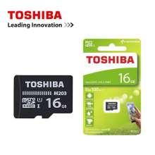 TERMURAH Memori Card 16GB Toshiba Memori Card Micro SD - Hitam