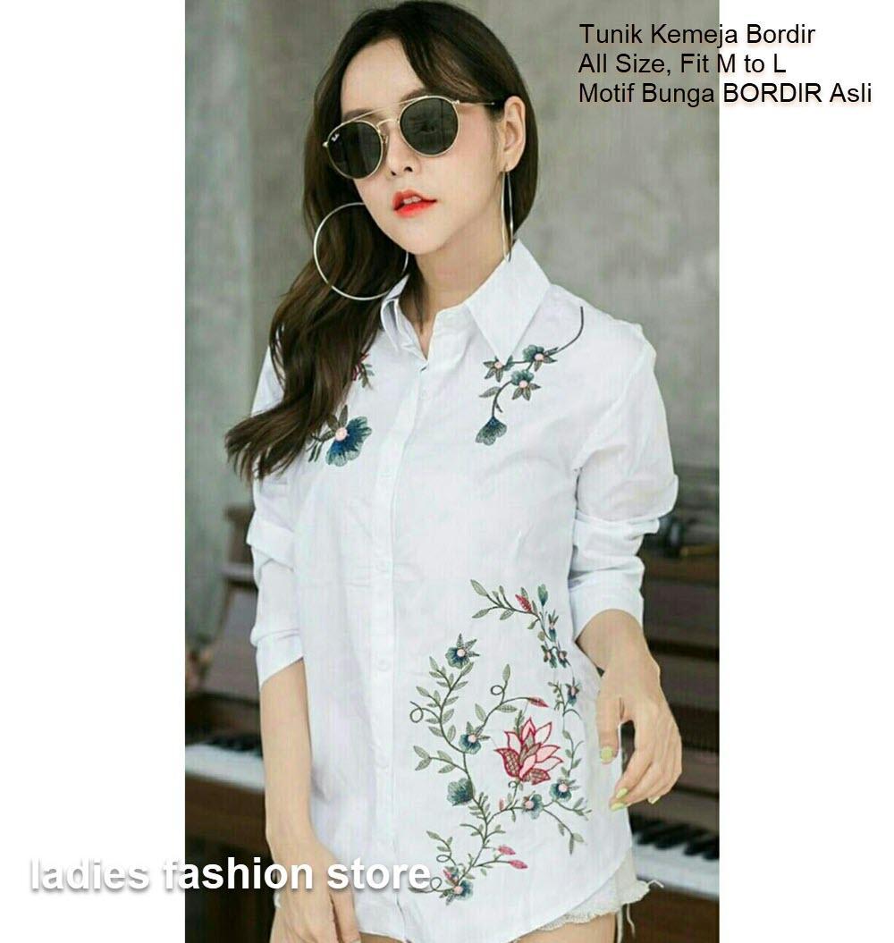 Jual putih bordir bunga murah garansi dan berkualitas  2a21df0861
