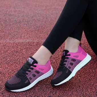 รองเท้าออกกำลังกาย 2020 ฤดูใบไม้ผลิและฤดูร้อนใหม่สุภาพสตรีเข้าได้หลายชุด INS เสื้อผ้าแฟชั่น วิ่งลำลองนักเรียนรองเท้าฤดูใบไม้ร่วงแบบพกพาสะดวกการท่องเที่ยวรองเท้าผู้หญิง-