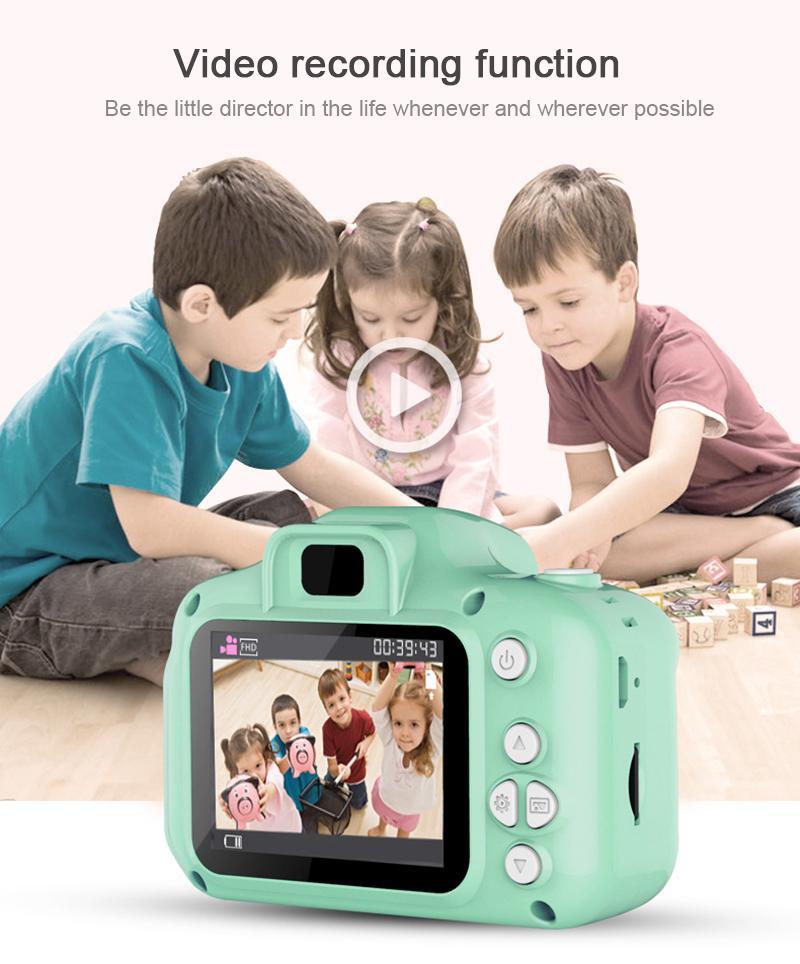 Lagobuy【original】children Mini Cute Digital Camera Photography Take Picture Camera 1080p Children Baby Educational Toys Video Recorder Camcorder.