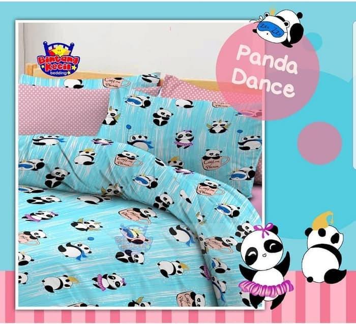 Sprei STAR Panda Dance2 Ukuran 100x200 - ready stock