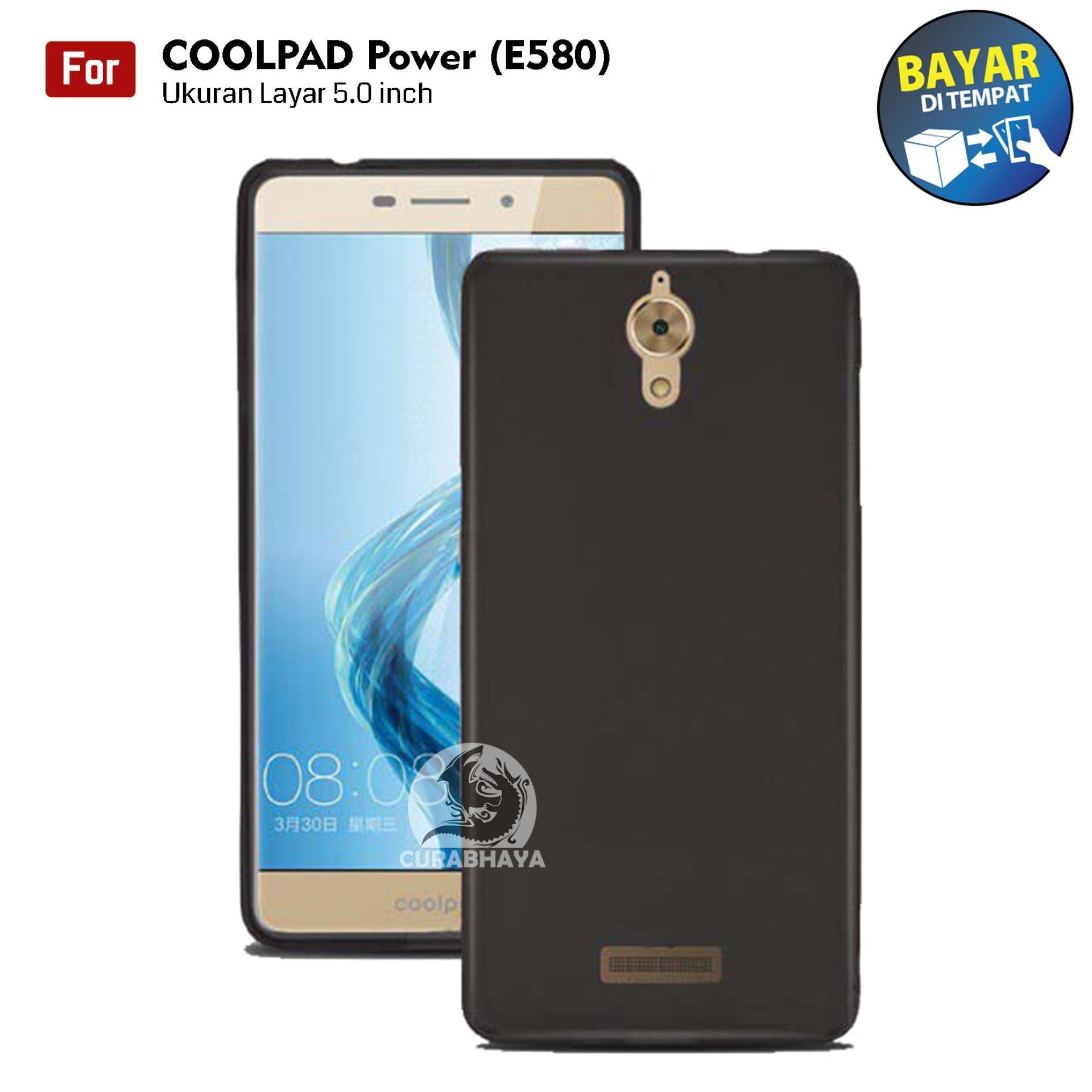 MidNight CoolPad Power / E580 | Slim Case Black Matte Softcase Premium Baby Skin - Hitam