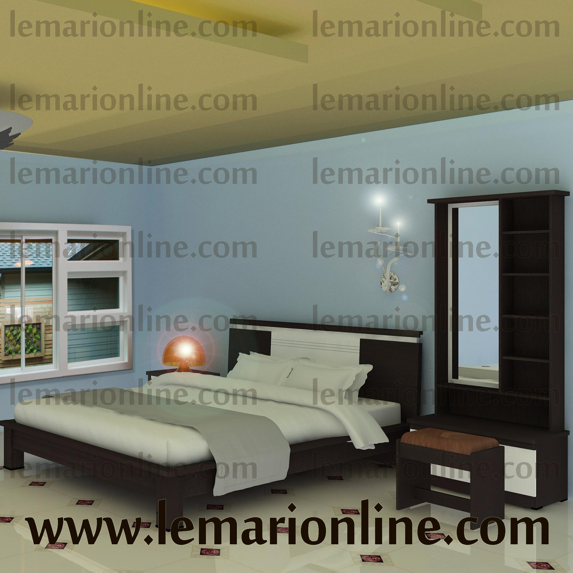 Bedroom Set Avatar (ranjang, Nakas, Dan Meja Rias) By Furniture Minimalis.