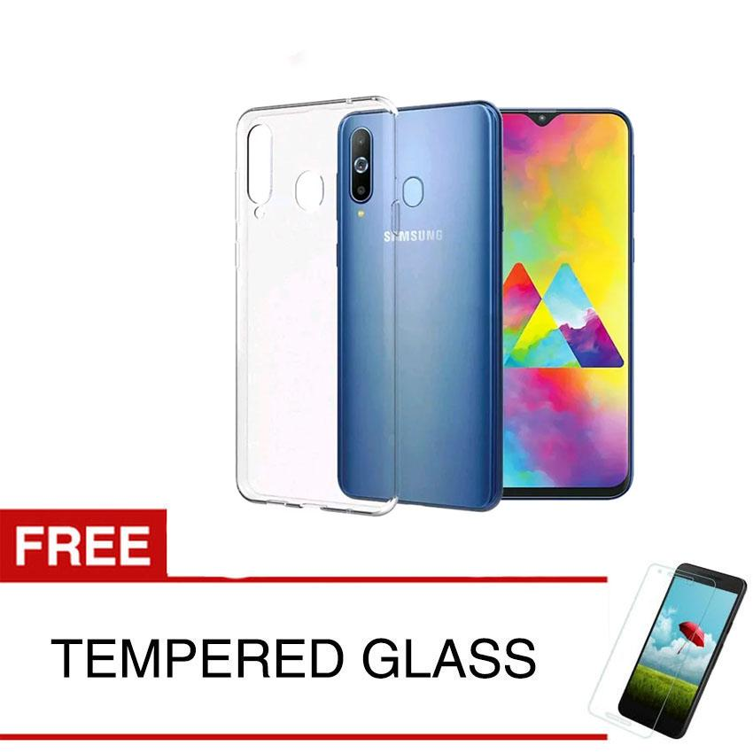 Case for Samsung Galaxy M20 - 6.3 inch - Clear + Gratis Tempered Glass - Ultra Thin Soft Case