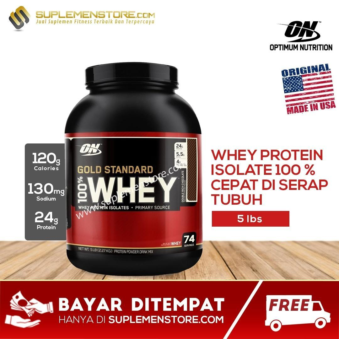Optimum Nutrition Whey Gold Standard 100% 5 Lb By Rumahsuplement.