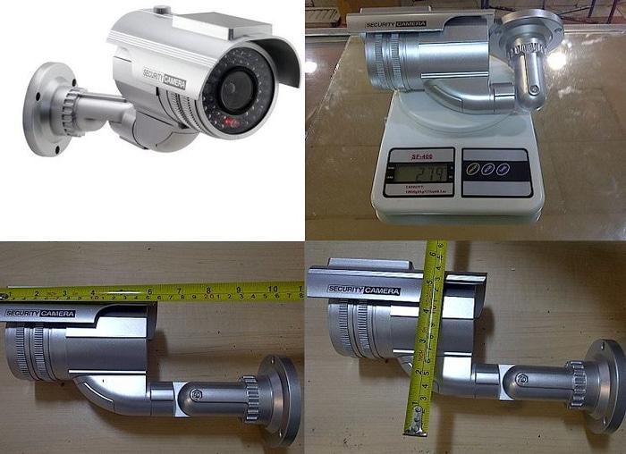 CCTV dummy palsu Outdoor silver solar power tenaga sury Limited