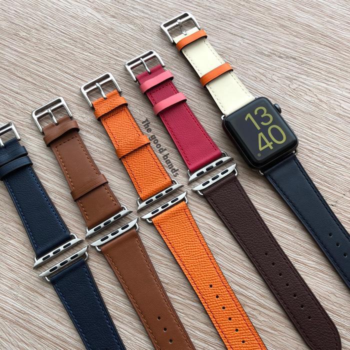 apple watch tali strap hermes single leather kulit 1 2 3 4 42mm 44mm