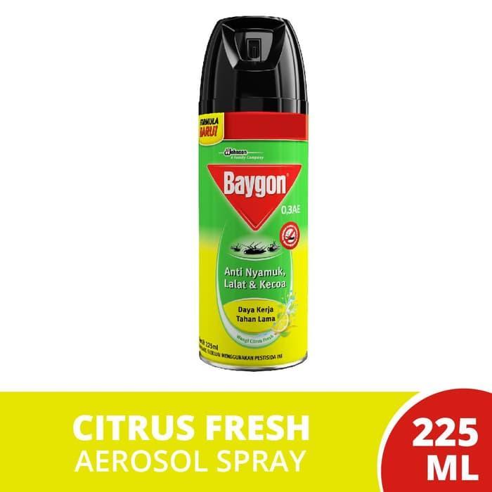 Baygon Citrus Fresh 225ml By Momspedia.